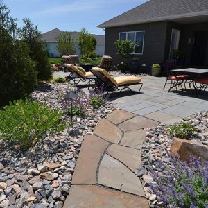 Garden Walkways Paths Landscaping Fargo ND NEL 009