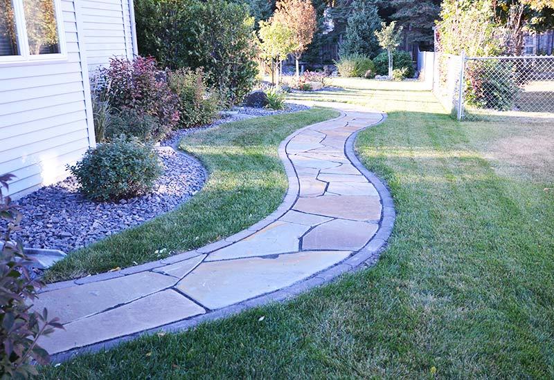 flagstone walkways natural environments landscaping fargo north