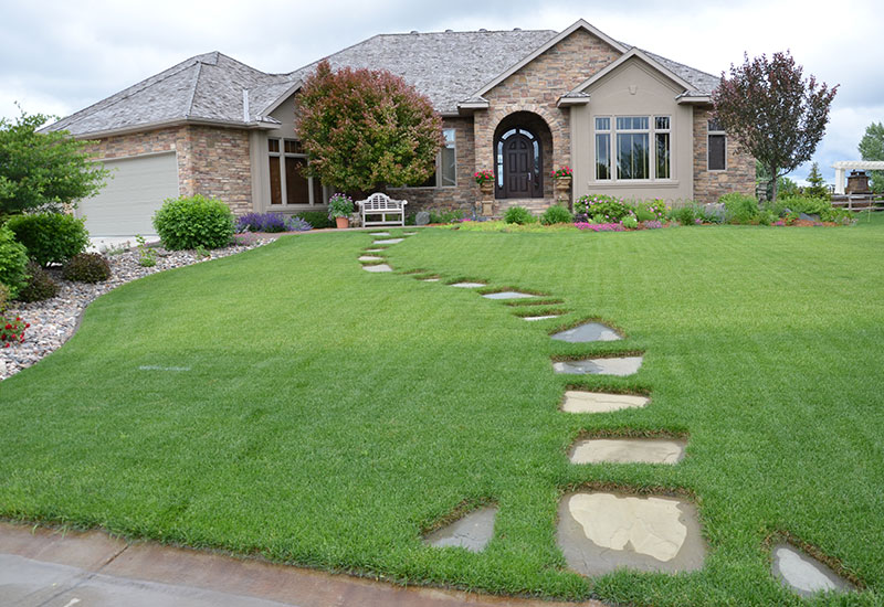 Garden Walkways Paths Landscaping Fargo ND NEL008