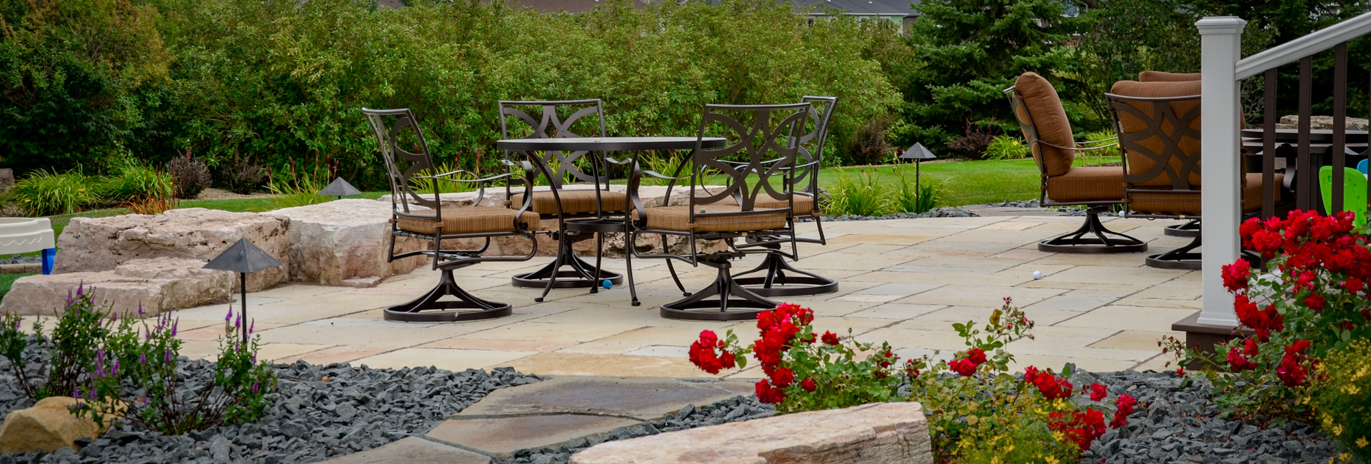 Natural Stone Patio Landscaping