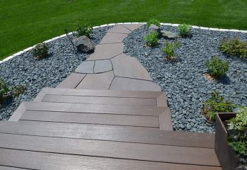 Garden Walkways Paths Landscaping Fargo ND NEL004