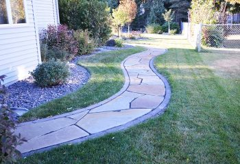 Garden Walkways Paths Landscaping Fargo ND NEL007